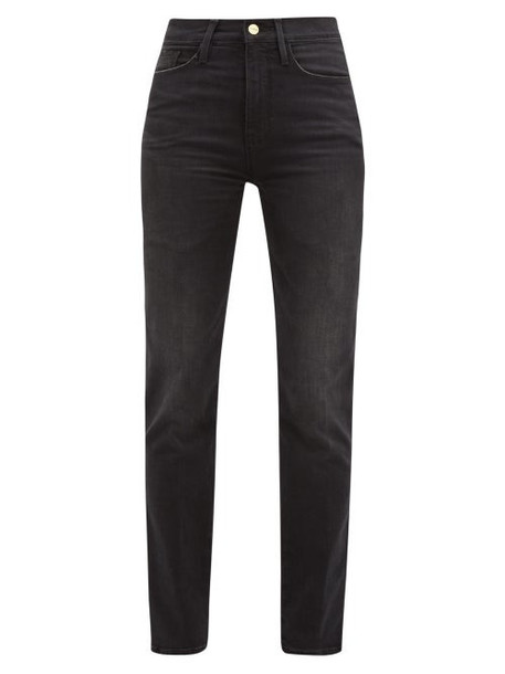 Frame - Le Sylvie Straight-leg Cropped Jeans - Womens - Dark Grey