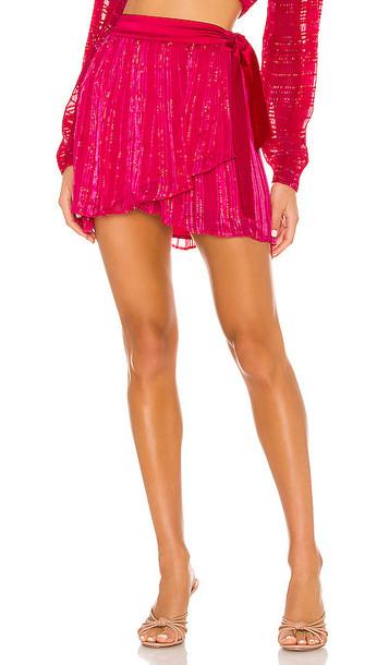 Lovers + Friends Lovers + Friends Odette Skirt in Pink