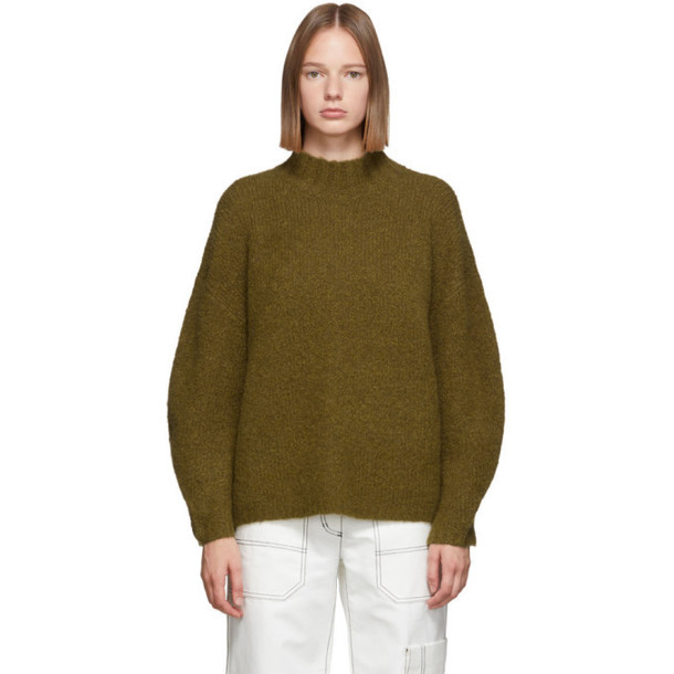 3.1 Phillip Lim Green Oversized Dropped Shoulder Sweater