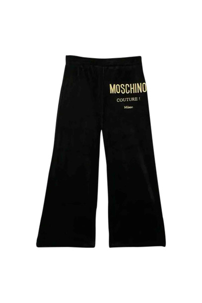 Moschino Pants With Embroidery in nero