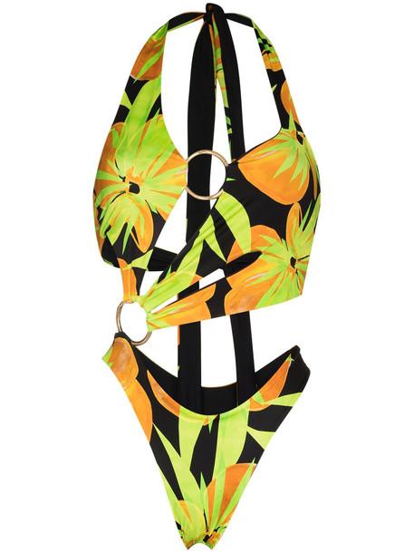 Louisa Ballou Sex Wax halterneck swimsuit - Green