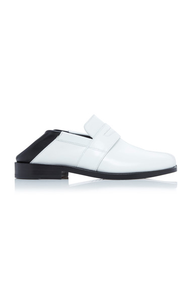 Maison Margiela Two Tone Leather Loafers Size: 35 in white