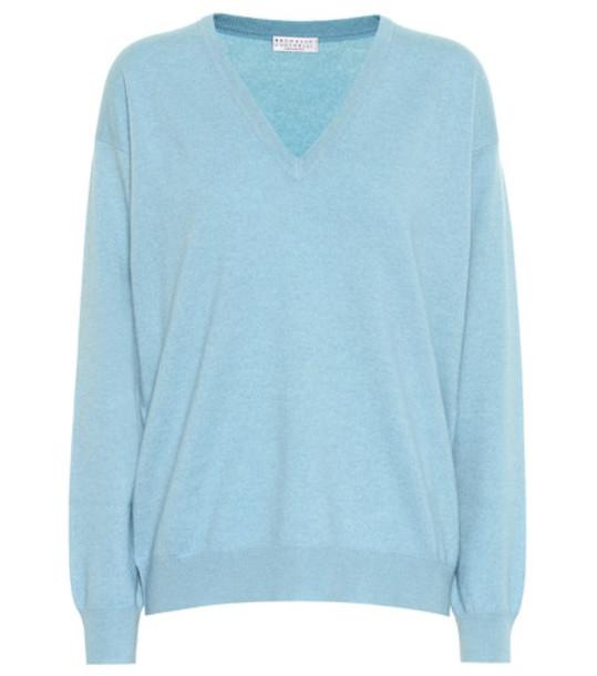 Brunello Cucinelli Cashmere sweater in blue