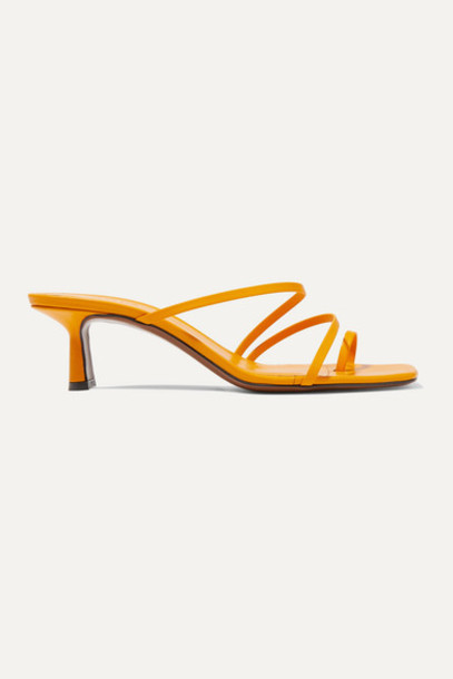 Neous - Erandra Leather Sandals - Yellow