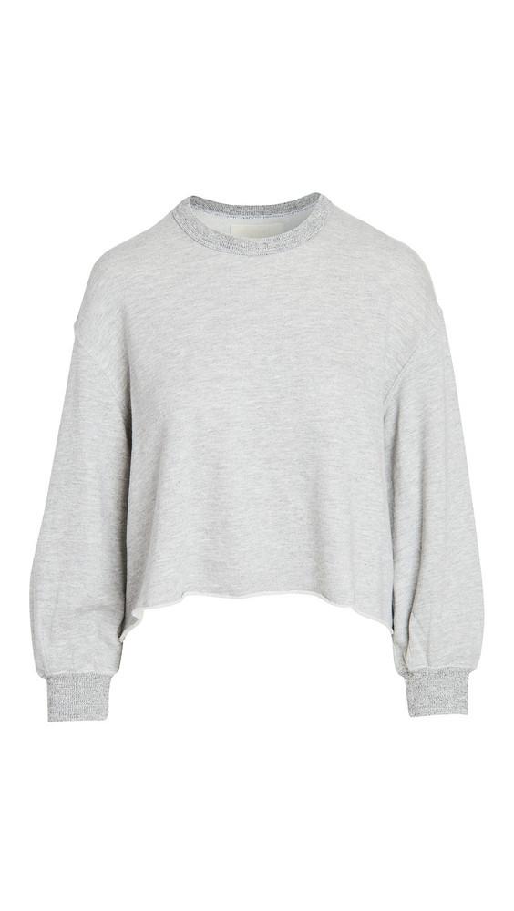 THE GREAT. THE GREAT. The Sleep Cutoff Sweatshirt in grey
