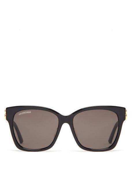Balenciaga - Bb-logo Acetate Sunglasses - Womens - Black Grey