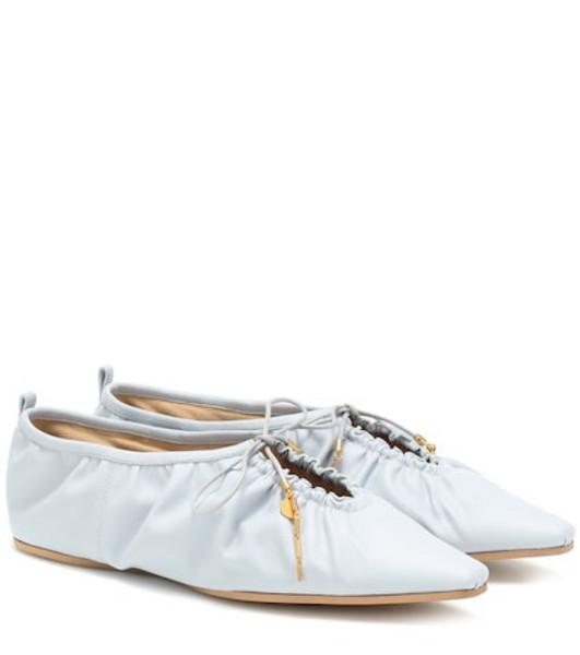 Stella McCartney Faux leather ballet flats in blue
