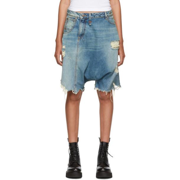 R13 Blue Twister Shorts