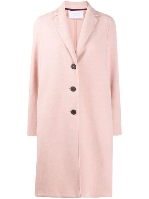 Harris Wharf London single breasted coat in pink