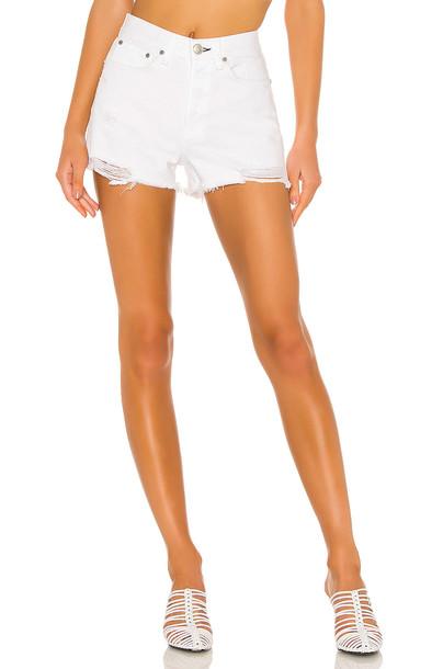 rag & bone/JEAN Maya High Rise Short in white