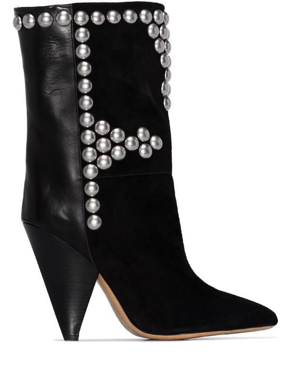 Isabel Marant Layo stud-embellished 95mm boots in black
