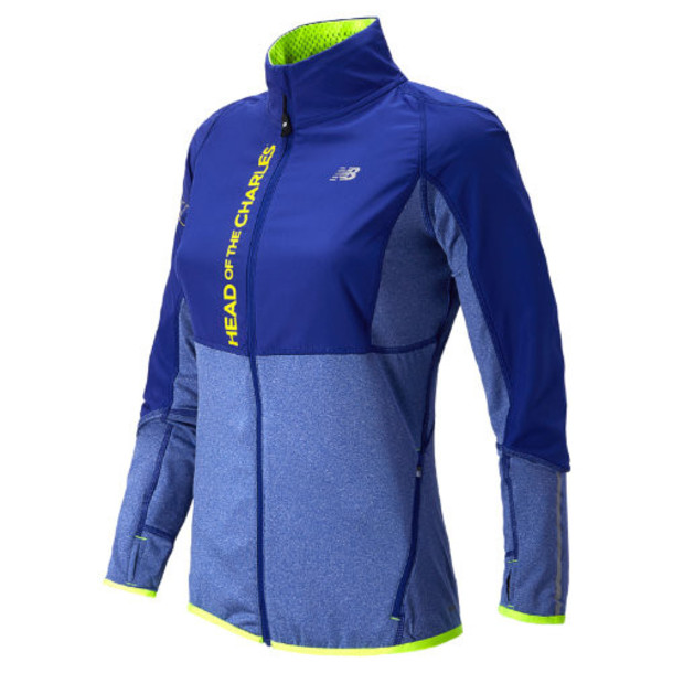 New Balance 41718 Women's HOCR Raptor Jacket - UV Blue, Hi-Lite (WT41718PUVB)