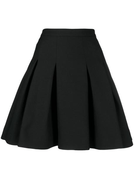 Valentino pleated full skirt in black