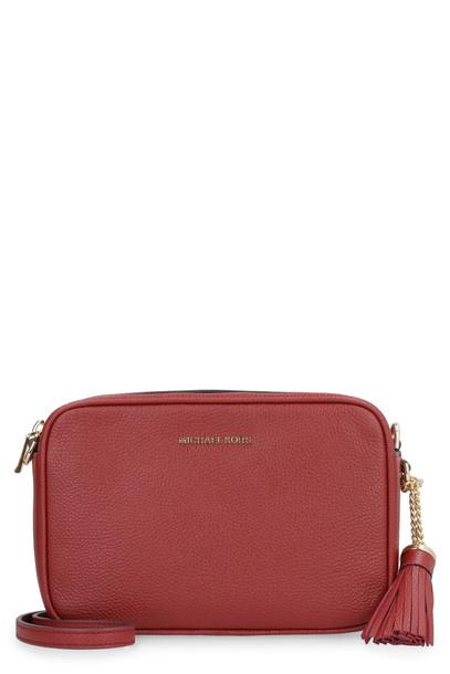 MICHAEL Michael Kors Ginny Leather Crossbody Bag in burgundy