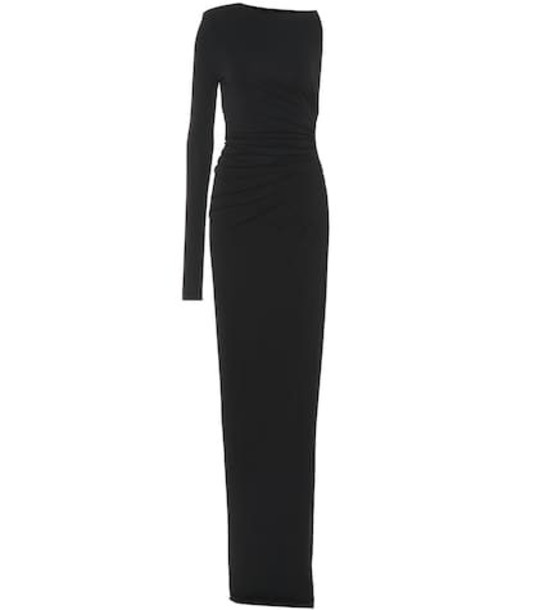 Alexandre Vauthier Stretch jersey asymmetric dress in black