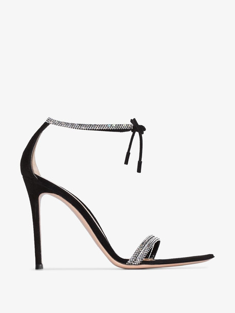 Gianvito Rossi Black crystal strap 115 sandals