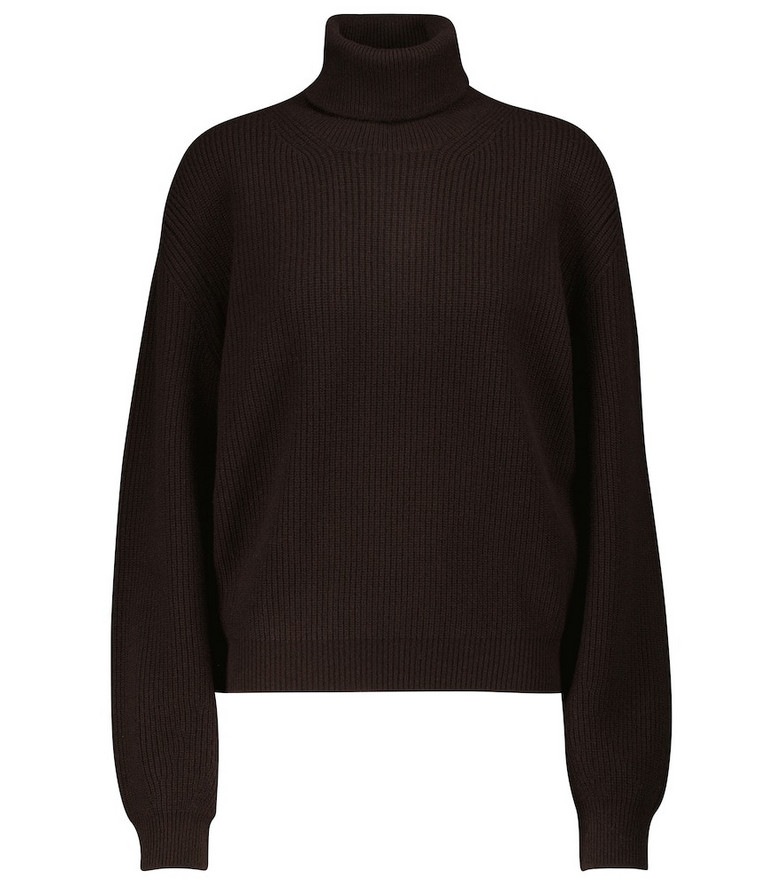 Tom Ford Cashmere turtleneck sweater in brown