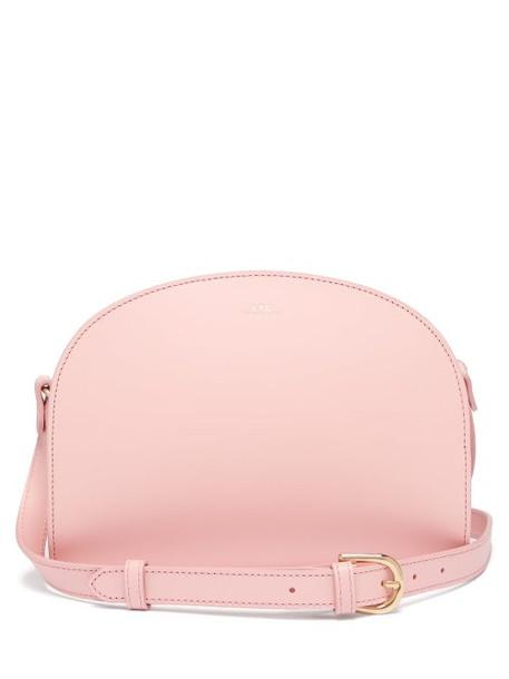 A.P.C. A.p.c. - Half Moon Leather Cross Body Bag - Womens - Light Pink