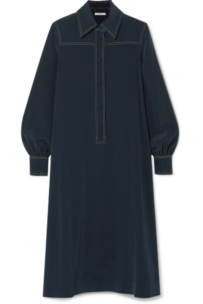 Co - Crepe Midi Dress - Navy