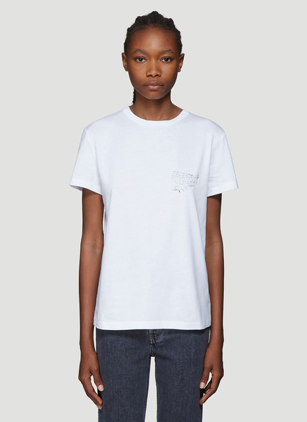Helmut Lang Helmut Laws T-shirt in White size S