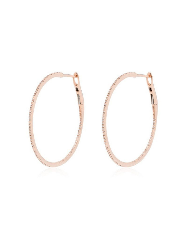 Dana Rebecca Designs 14kt rose gold diamond hoop earrings