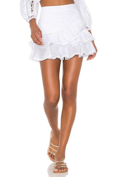 Charo Ruiz Ibiza Fera Skirt in white