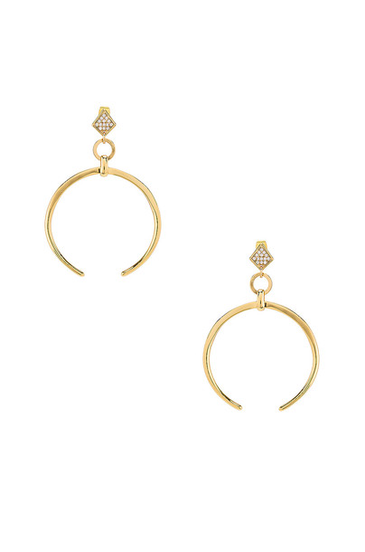 Ettika Crescent Drop Earring in gold / metallic
