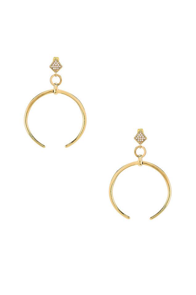 Ettika Crescent Drop Earring in gold / metallic
