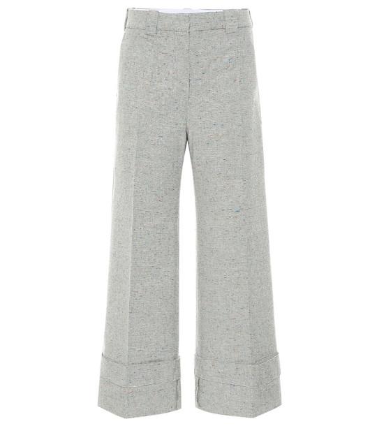JW Anderson Mid-rise wide-leg pants in beige