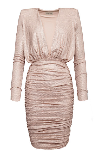 Alexandre Vauthier Rhinestone-Embellished Jersey Mini Dress Size: 36