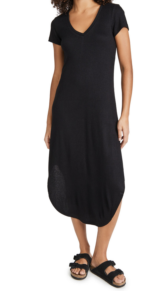 Z Supply Reverie Rib Dress in black