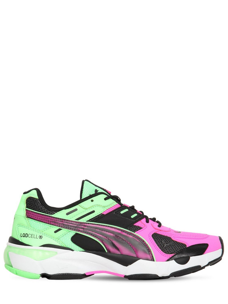 PUMA SELECT Lqd Cell Extol Old Circuits Sneakers in green / pink