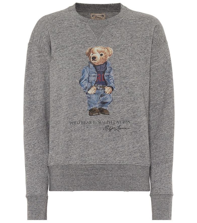Polo Ralph Lauren Cotton-blend sweatshirt in grey