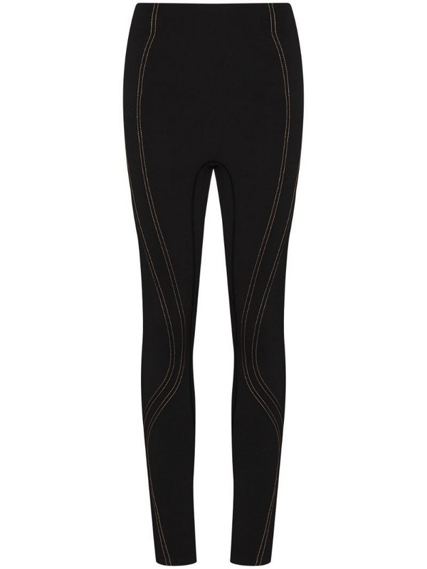 P.E Nation Elevation contrast stitch leggings in black