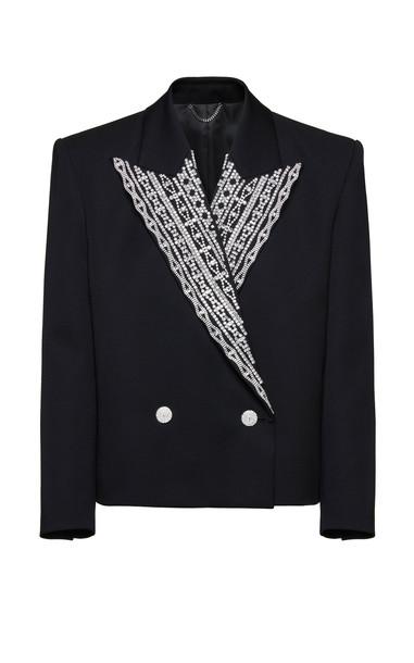 Magda Butrym Embellished Wool Blazer in black