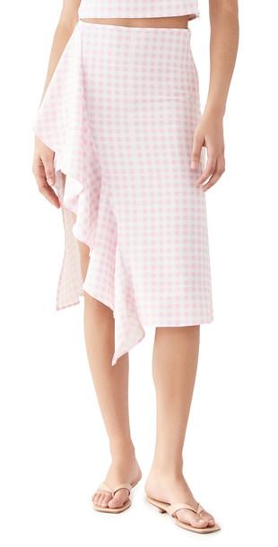 Sokie Collective Ruffle Midi Skirt