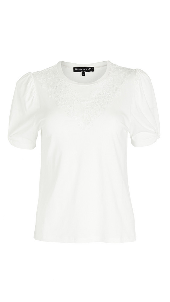 Generation Love Lyric Lace Tee in white
