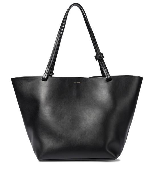 The Row Park Medium leather shopper in black
