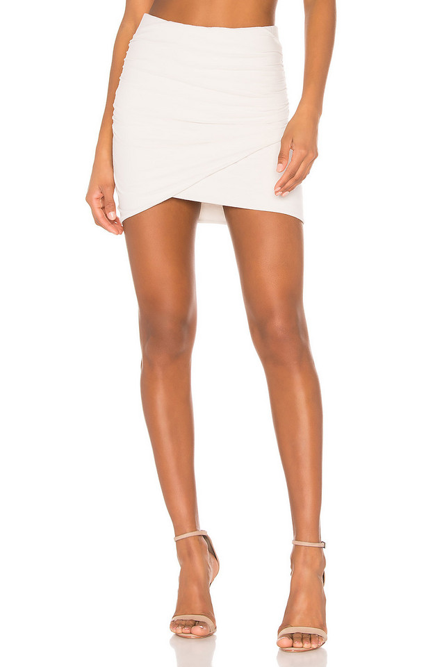 James Perse Wrap Mini Skirt in white