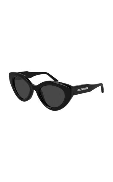 Balenciaga Agent Cat-Eye Acetate Sunglasses in black