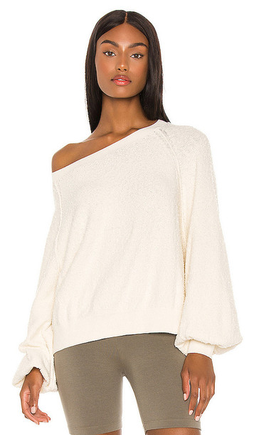 Free People Found My Friend Pullover in Cream