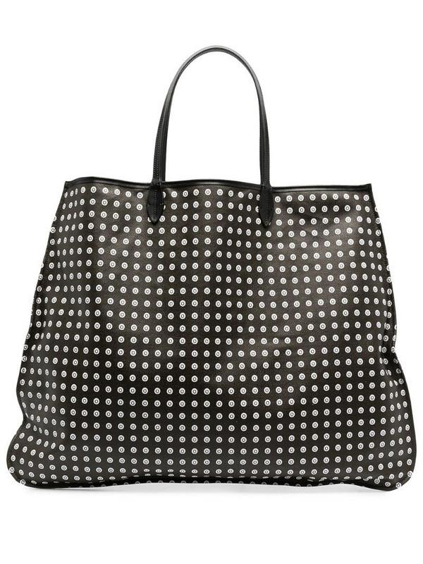 10 CORSO COMO polka dot print tote bag in black