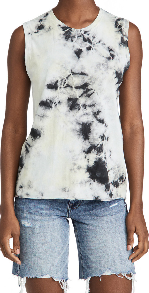 Raquel Allegra Fitted Muscle Tee in black