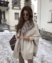 coat,beige coat,nude coat,beige,nude,fur coat,fur,russian label,lerazhuravleva,beige jacket,nude sweater,russian girl,russian model,russian fashion,instagram