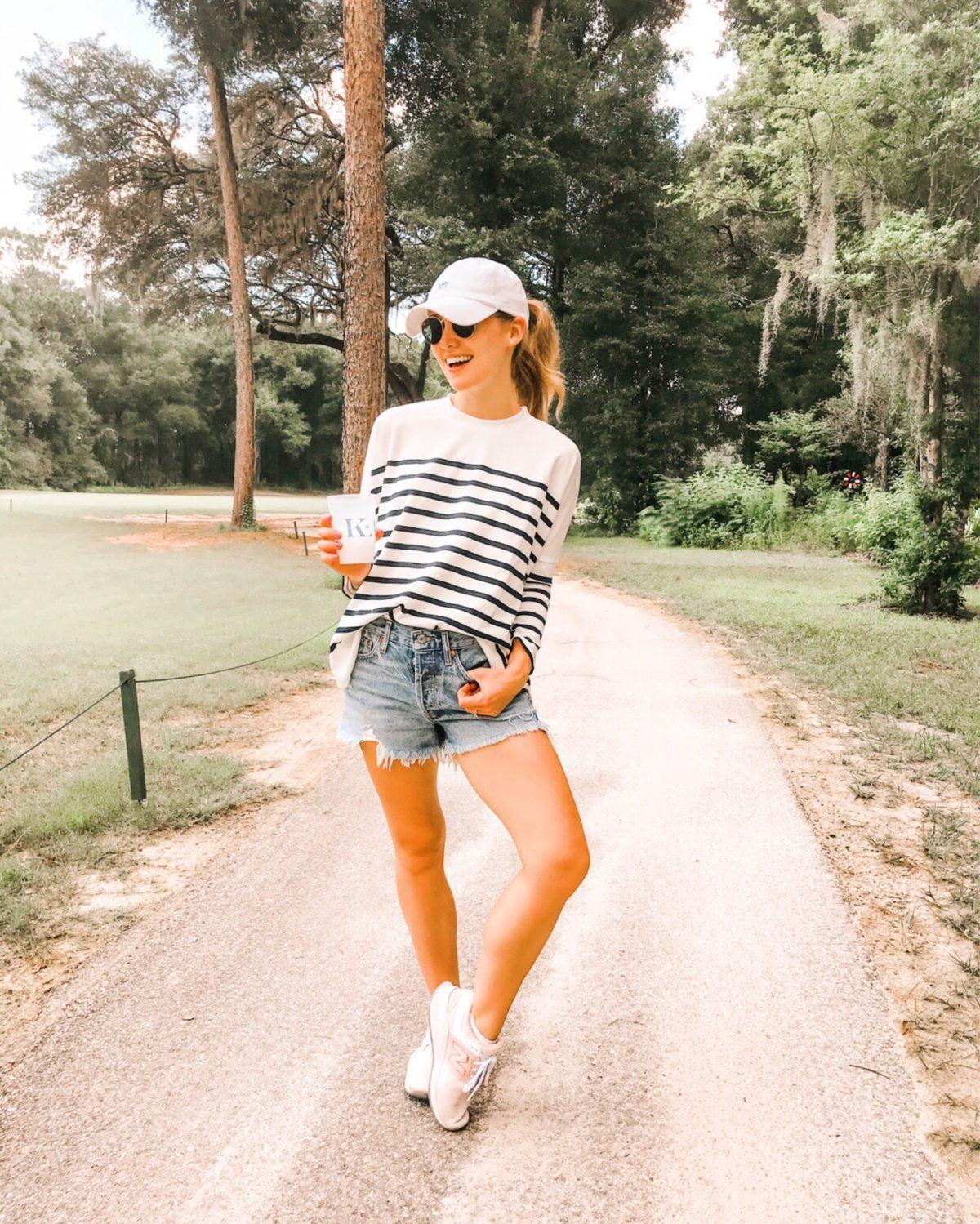 a lonestar state of southern blogger top shorts shoes sunglasses hat