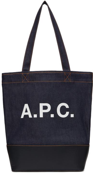 A.P.C. A.P.C. Indigo & Navy Denim Axelle Tote