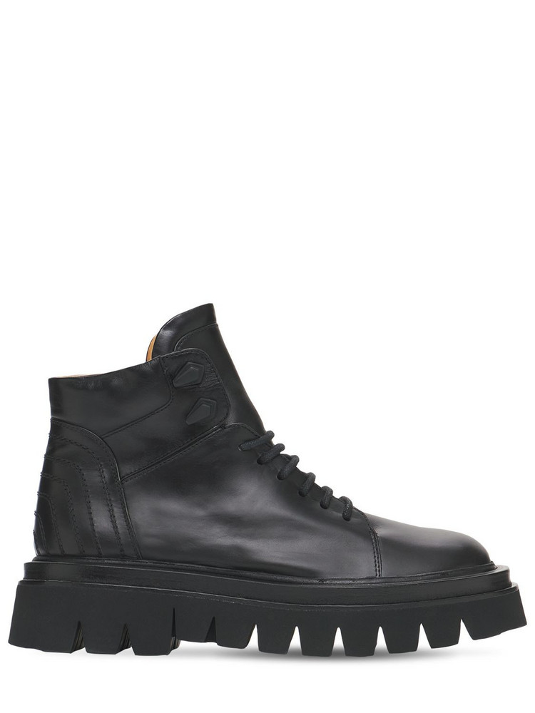 PACIOTTI 55mm Leather Ankle Boots in black