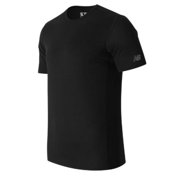 New Balance 63066 Men's Accelerate SS Graphic Top - Black (MT63066BK)