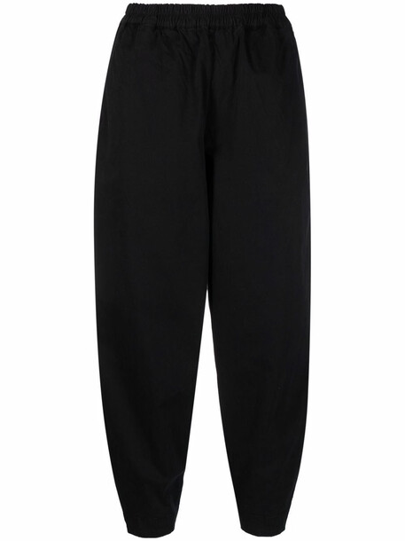 Toogood cropped tapered-leg trousers - Black
