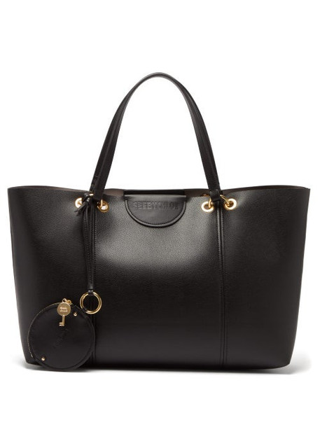See By Chloé See By Chloé - Marty Large Grained Leather Tote Bag - Womens - Black